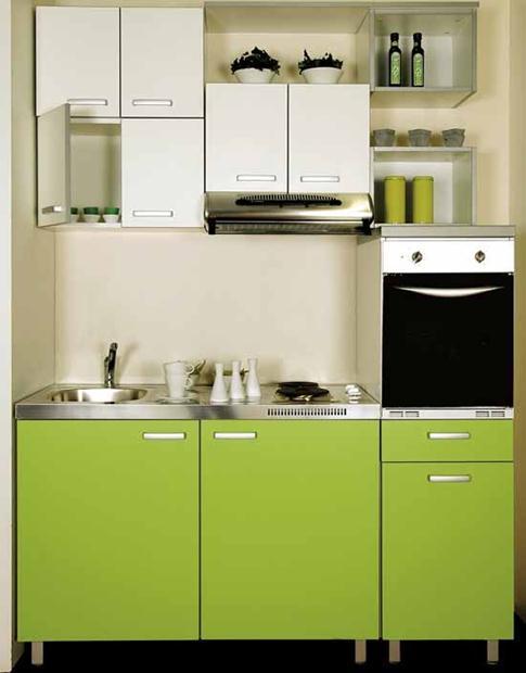 מטבח לבן ירוק