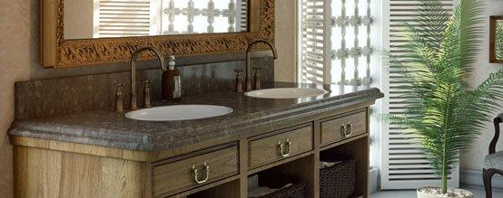 חדר אמבטיה בסגנון כפרי
